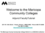 Maricopa Community Colleges Adjunct Faculty Member